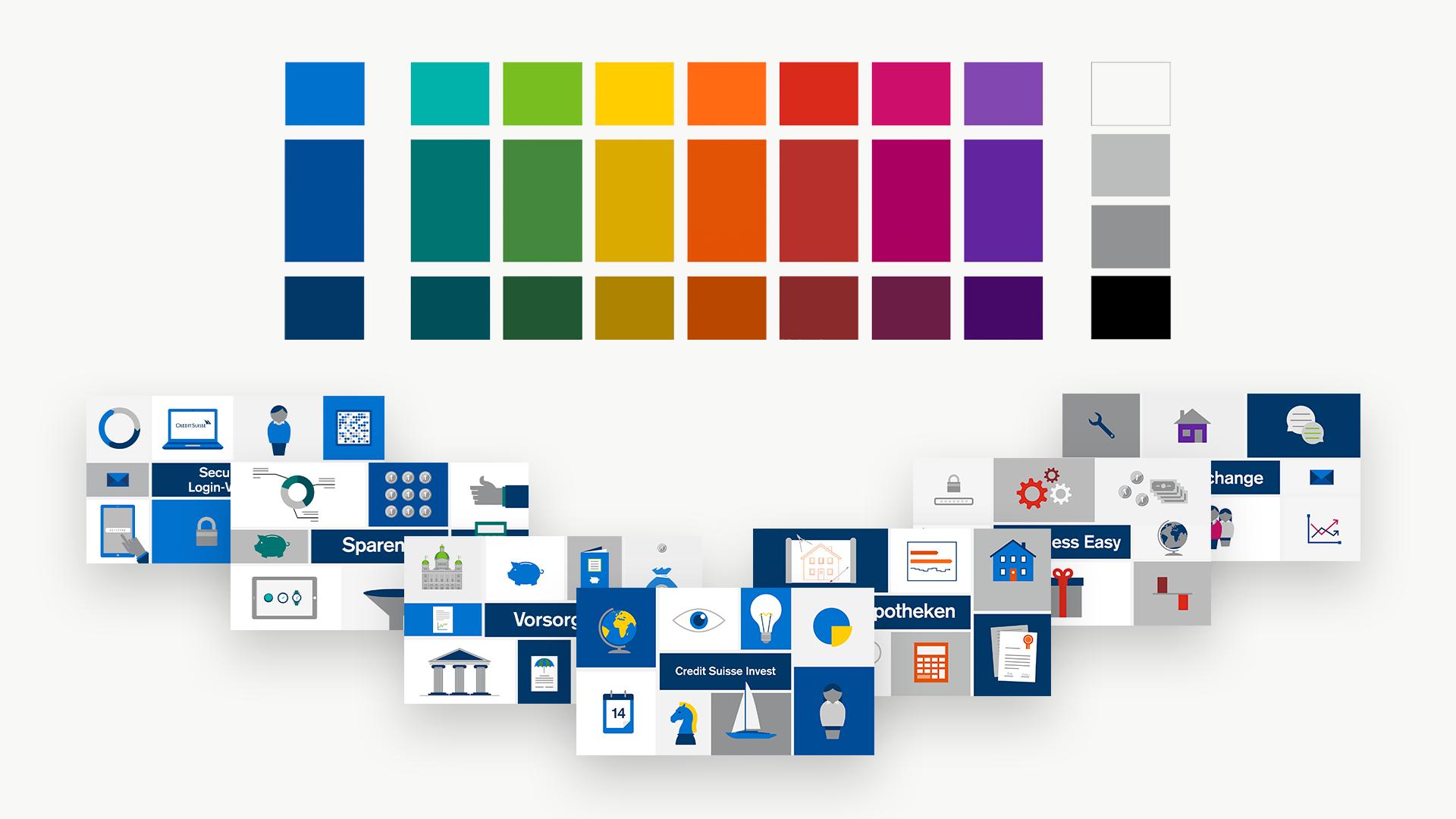 Credit-Suisse-Konzept-Farben